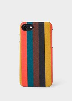 Paul Smith 'Bright Stripe' Leather iPhone 7 Case