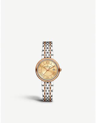 CARL F BUCHERER 00.10315.07.45.21 Adamavi stainless steel, 18 K rose gold and sapphire crystal watch