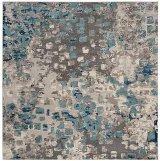 Mistana Newburyport Grey & Light Blue Area Rug Rug