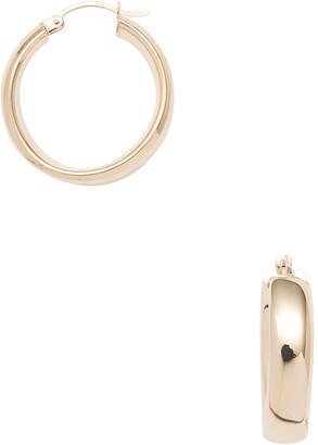 Candela Women's 14K Gold Wedding Band Hoop Earrings