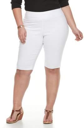 Dana Buchman Plus Size Pull-On Skimmer Shorts