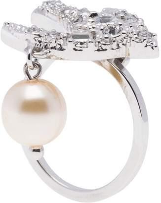 Miu Miu pearl charm swallow ring