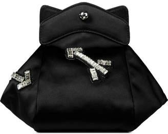 Carven Black Pochon Defile F Satin Bag
