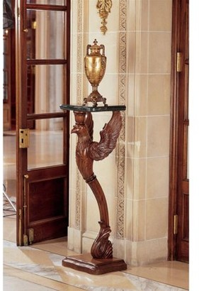 Toscano Design The Griffin of Hanover Pedestal with Marble Top