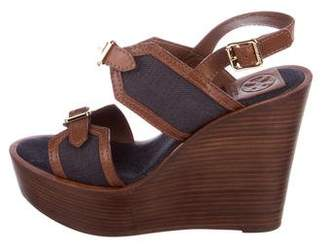 Tory Burch Platform Wedge Sandals