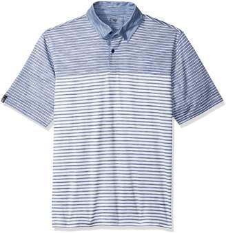 Haggar Men's C18 Heather Stripe Polo Shirt