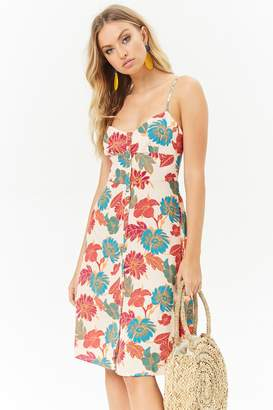 Forever 21 Floral Button-Front Dress