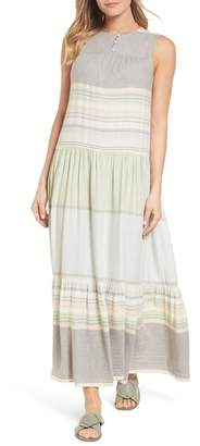 Caslon R R) Multi Stripe Woven Maxi Dress (Regular & Petite)
