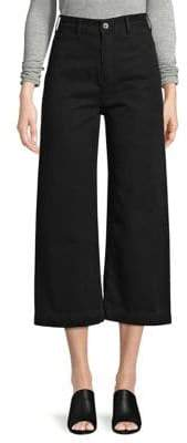 Free People Patti Wide Leg Cropped Cotton Pants