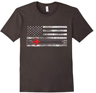 Aviation Runway T Shirt With American Flag Distressed Shirt