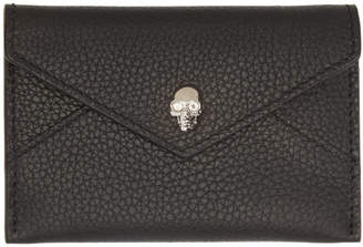 Alexander McQueen Black Envelope Card Holder