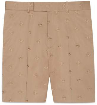 Gucci Cotton short with bee