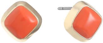 Liz Claiborne Orange 15mm Stud Earrings