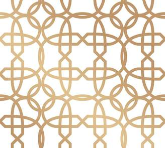 Pottery Barn Chainlinx Gold Wallpaper Sample