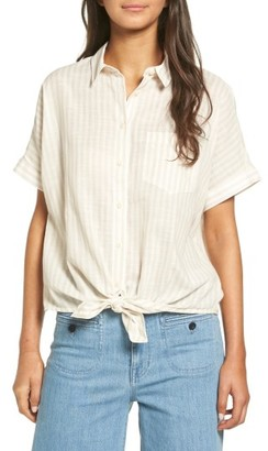 Women's Madewell Irene Tie Front Shirt $69.50 thestylecure.com