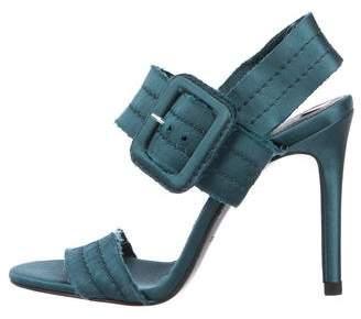 Pedro Garcia Round-Toe Satin Sandals
