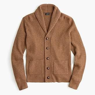 J.Crew Rugged merino wool shawl-collar cardigan sweater