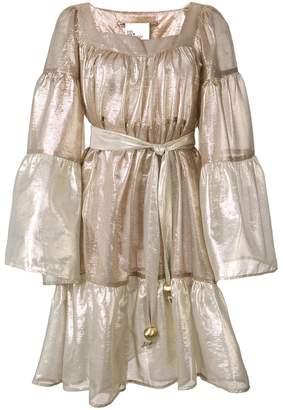 Lisa Marie Fernandez belted metallic skirt