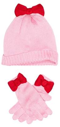 Kate Spade bow hat & gloves set (Little Girls & Big Girls)