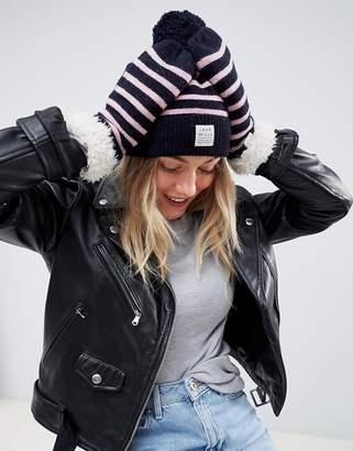 Jack Wills Stripe Hat and Mitten Gift Set