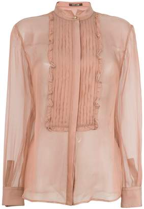 Roberto Cavalli pleated bib blouse