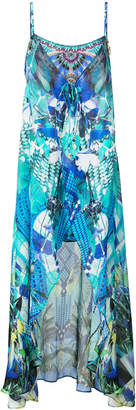 Camilla multi-print maxi dress