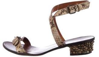 Lanvin Snakeskin Buckle Sandals