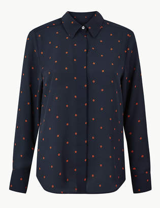 Marks and Spencer Printed Button Detailed Shirt