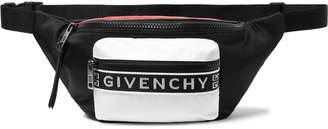 Givenchy Logo Webbing-Trimmed Colour-Block Shell Belt Bag