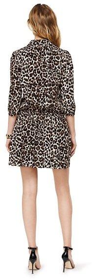 Glam Rock Silk Leopard Shirtdress