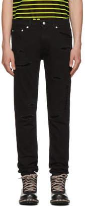 Alexander McQueen Black Distressed Jeans