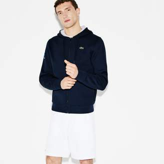 Lacoste Men's SPORT Miami Open Hooded Fleece Tennis Sweatshirt