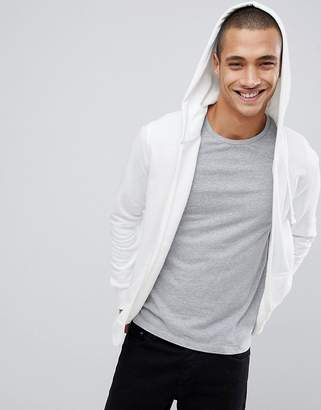 Pull&Bear Join Life Hoodie In White