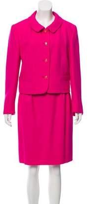 Louis Feraud Virgin Wool Knee-Length Skirt Suit