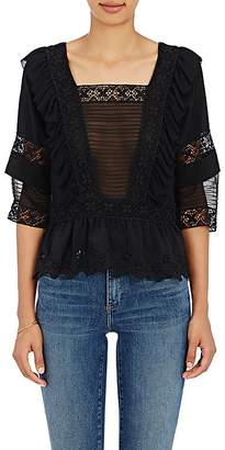 Ulla Johnson ULLA JOHNSON WOMEN'S CHARLOTTE SILK CREPE BLOUSE $415 thestylecure.com