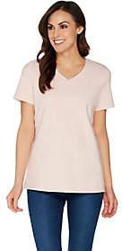 Martha Stewart Classics V-Neck Short SleeveT-Shirt