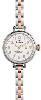 Shinola The Birdy Two-Tone Watch, 34mm