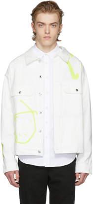 Rochambeau White Denim Short Jacket