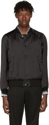 Saint Laurent Black Moonlight Teddy Bomber Jacket $2,690 thestylecure.com