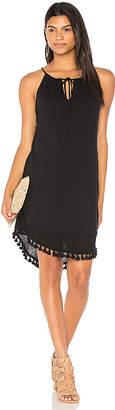 Michael Stars Halter Tassel Dress in Black $98 thestylecure.com