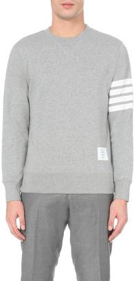 Thom Browne Striped-detail cotton-jersey sweatshirt $445 thestylecure.com