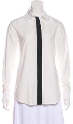 Preen Line Long Sleeve Button Up Top