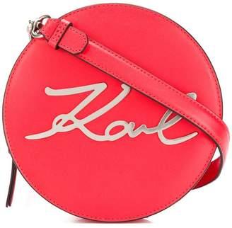 Karl Lagerfeld K/Signature round crossbody bag