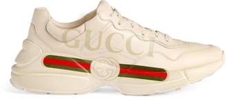 Gucci Men's Rhyton logo leather sneaker