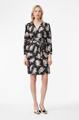 Rebecca Taylor Bouquet Floral Silk Dress