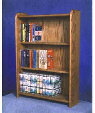 Wood Shed 300 Series 120 DVD Multimedia Storage Rack Wood Shed