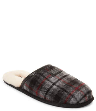 UGG Red & Black Tartan Plaid Scruff Slippers