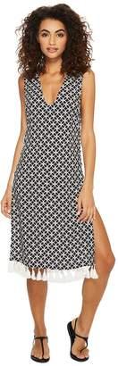 MICHAEL Michael Kors Rope Geo Cover-Up Dress w/ Lace-Up Sides Women's Swimwear