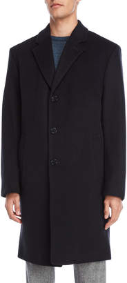 MICHAEL Michael Kors Navy Wool Long Coat