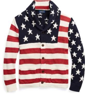 Ralph Lauren Flag Cotton-Blend Cardigan